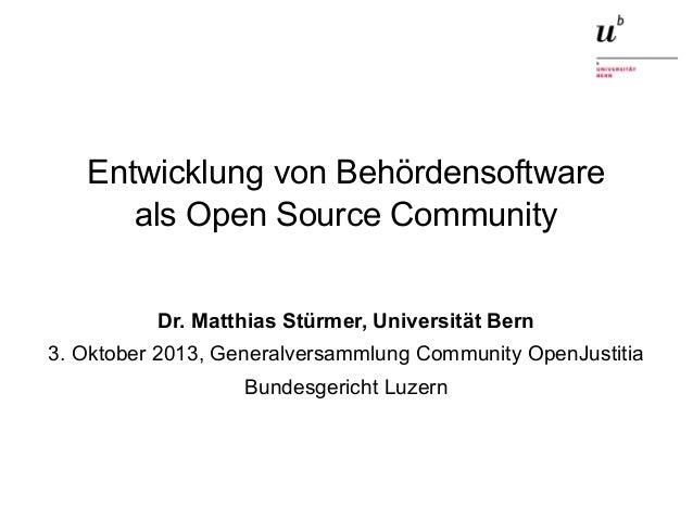 Entwicklung von Behördensoftware als Open Source Community