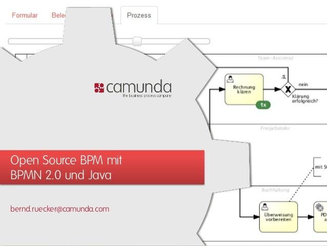 JUG Luzern: Open Source BPM mit BPMN 2.0 und Java