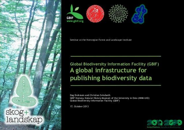 Global Biodiversity Information Facility - 2013