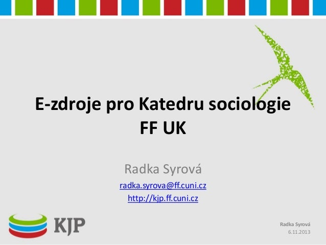 E-zdroje pro Katedru sociologie FF UK