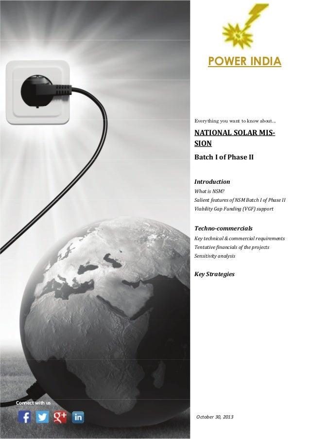 National Solar Mission - Phase II Batch I