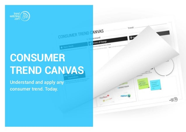 CONSUMER TREND CANVAS Understand and apply any consumer trend. Today.