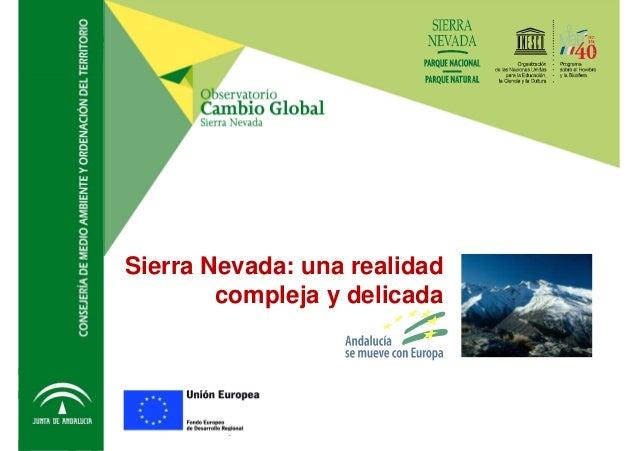 Sierra Nevada: Una realidad compleja y delicada Observatorio de Cambio global Sierra Nevada Sierra Nevada: una realidad co...