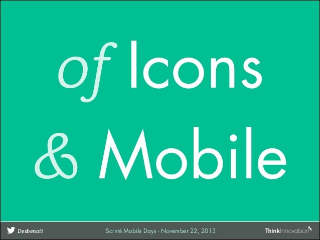 Of icons and mobiles