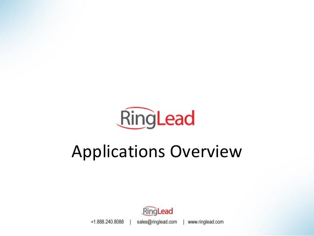 RingLead Applications Overview