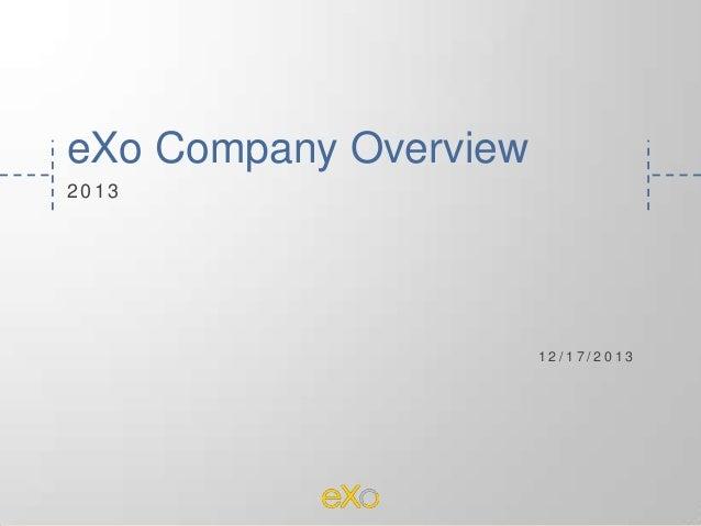 eXo Platform Company Overview 2014
