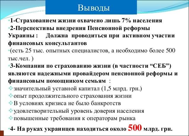 Пенсионной реформы Украины
