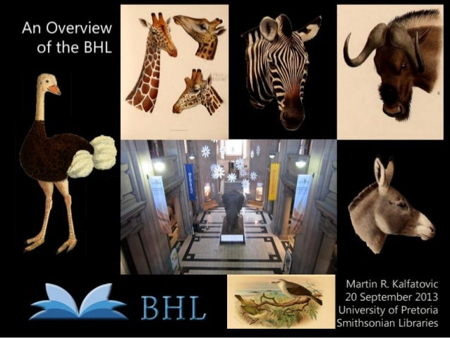 An Overview of the Biodiversity Heritage Library