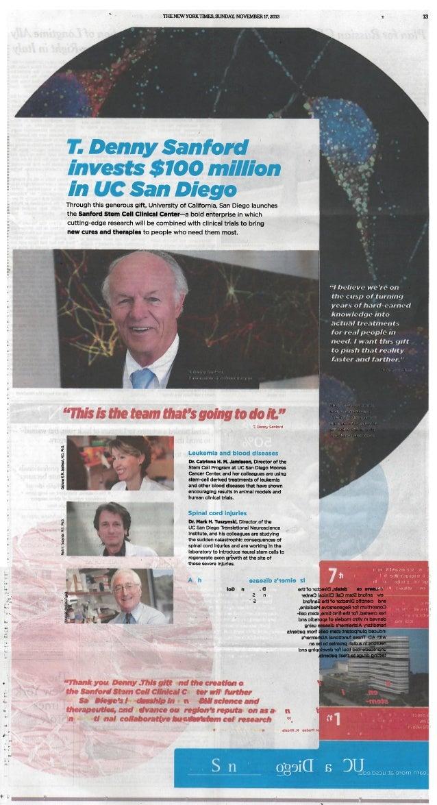 UC SAN DIEGO JACOBS - NYTIMES NOV 17 2013