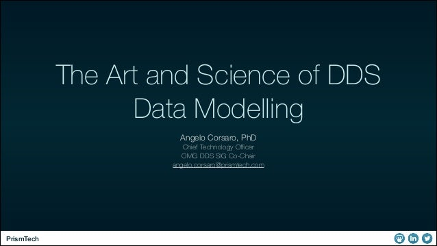 The Art and Science of DDS Data Modelling Angelo Corsaro, PhD Chief Technology Officer OMG DDS SIG Co-Chair angelo.corsaro@p...