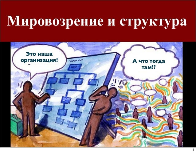 Мировозрение и структура Это наша организация!  А что тогда там??  1