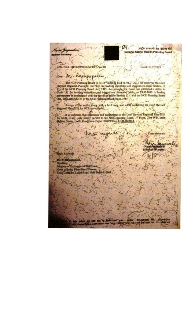 2013.07.30 ncrpb do letter no. k 14011 02 2012-ncrpb-vol iii to secy moef