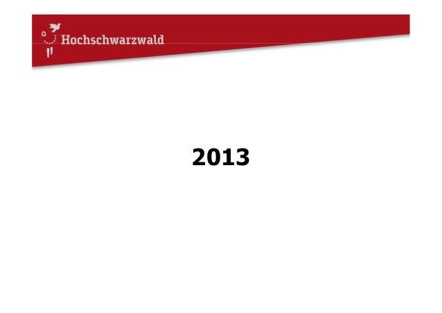 Auslandsaktivitäten 2013