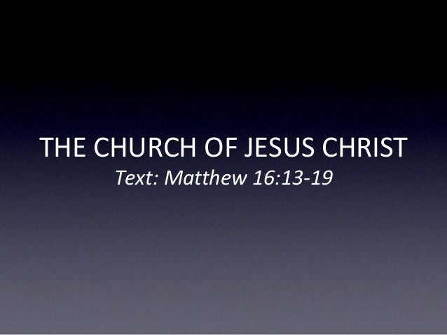 The Church Of The Lord Jesus Christ