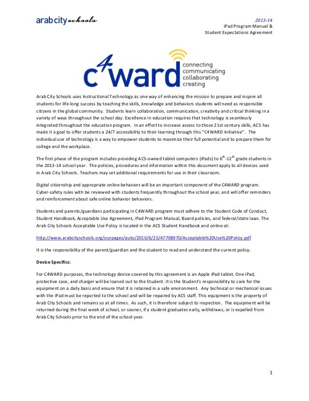 2013-14 c4ward ipad manual