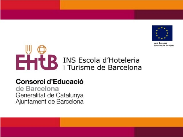 """Presentation by Escola d'Hoteleria i Turisme de Barcelona at the Study Visit Group No: 183 (CEDEFOP) , """"Educational cooperation with professional institutions to promote language skills 2014″."""