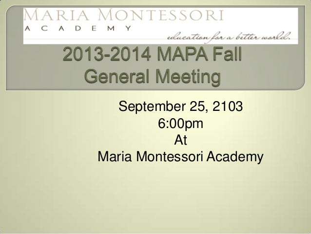 2013 2014 mapa fall slideshow