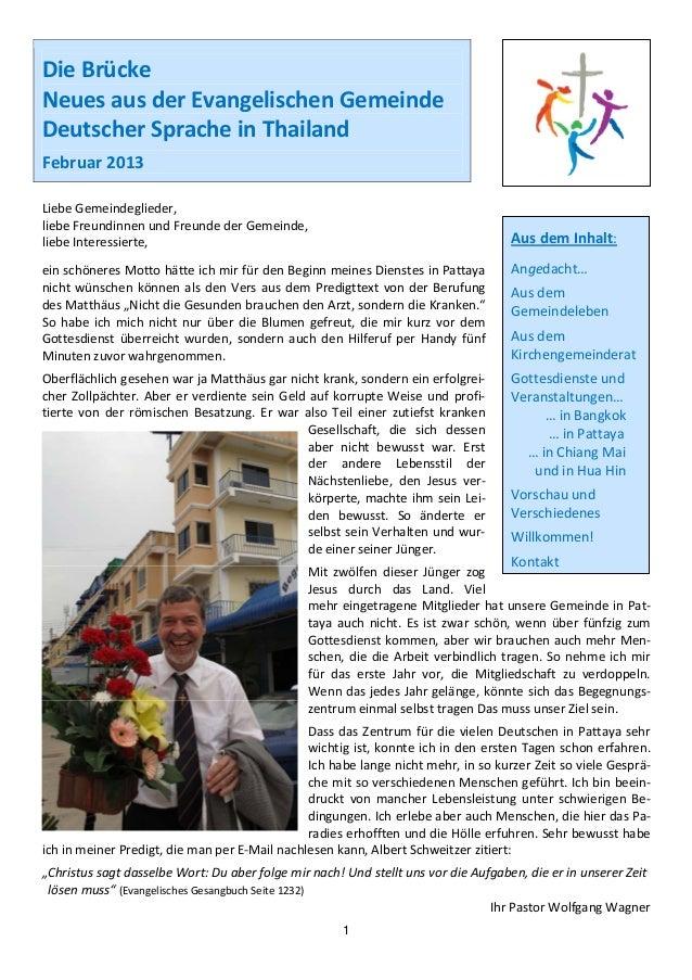 DieBrückeNeuesausderEvangelischenGemeindeDeutscherSpracheinThailandFebruar2013        LiebeGemeindegliede...
