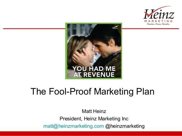 The Fool-Proof Marketing Plan