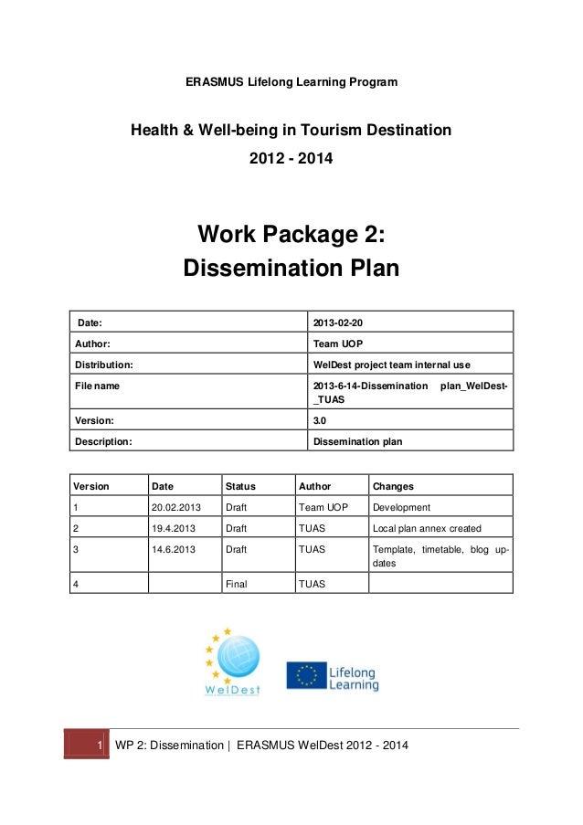 WelDest Dissemination Plan 2012 - 2014