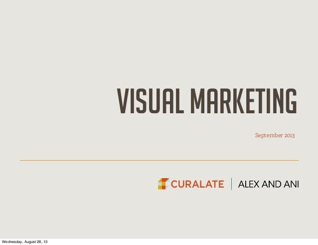visual marketing September 2013 Wednesday, August 28, 13