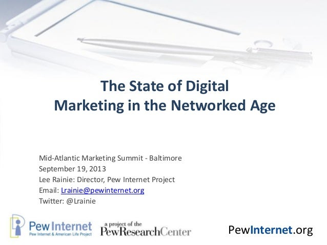 The State of DigitalMarketing in the Networked Age