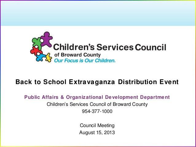 2013 Broward's Back to School Community Extravaganza