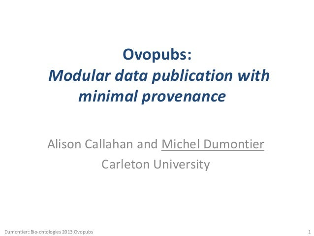 Ovopub: Modular data publication with minimal provenance