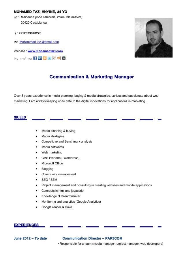 Wunderbar Lebenslauf Lebenslauf Marketing Manager Bilder - Entry ...