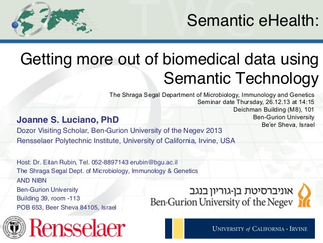 Semantic eHealth: