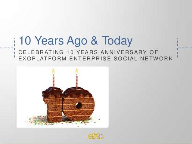 10 Years Ago & Today C E L E B R AT I N G 1 0 Y E A R S A N N I V E R S A R Y O F E X O P L AT F O R M E N T E R P R I S E...