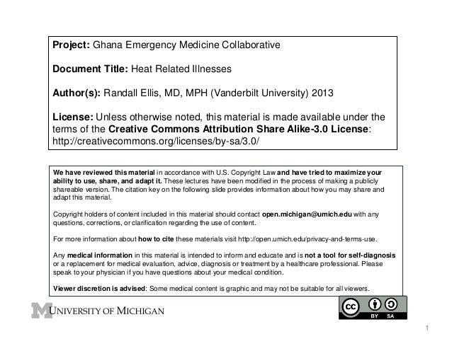 GEMC- Heat Related Illnesses- Resident Training
