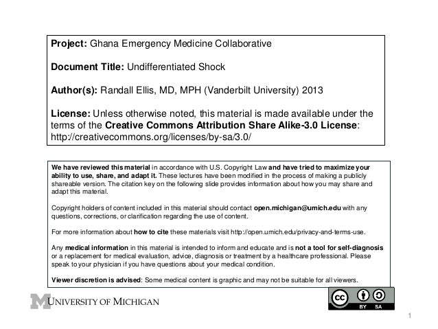 Project: Ghana Emergency Medicine Collaborative Document Title: Undifferentiated Shock Author(s): Randall Ellis, MD, MPH (...