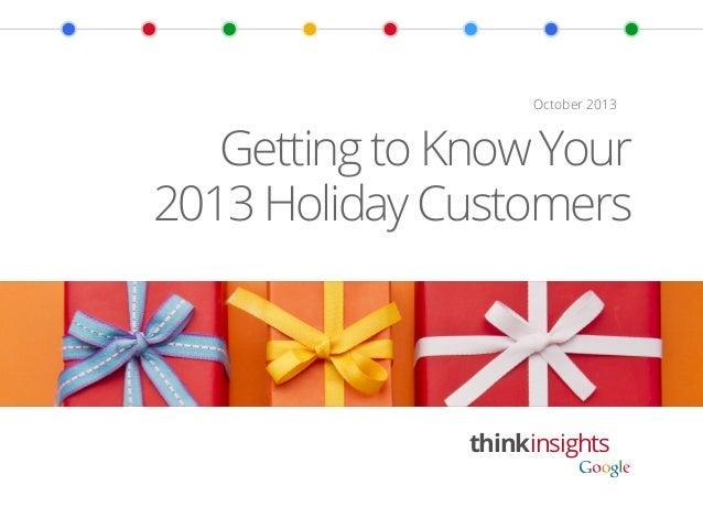2013 Holiday Shopping Intentions  [Google+ Ipsos]