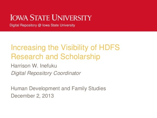 Increasing the Visibility of HDFS Research and Scholarship