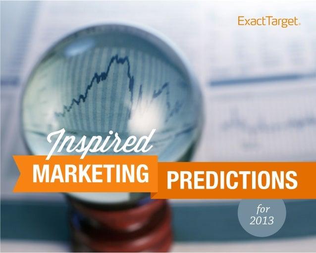 Marketing Predictions 2013