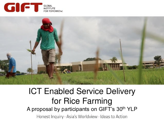 ICT Enabled Service Delivery for Rice Farming