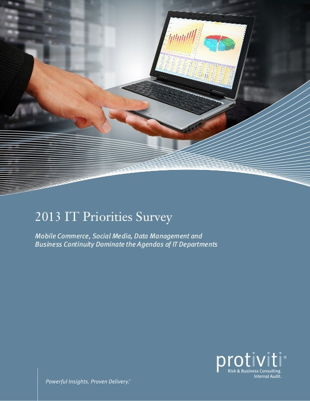 FPO2013 IT Priorities SurveyMobile Commerce, Social Media, Data Management andBusiness Continuity Dominate the Agendas of ...