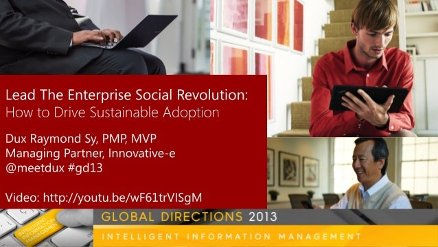 The Revolution is Here Do More w/ Less  Social Collaboration Speed of Business BYOD