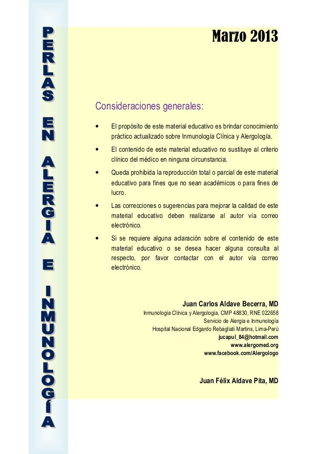 Marzo 2013Consideraciones generales:• El propósito de este material educativo es brindar conocimientopráctico actualizado ...