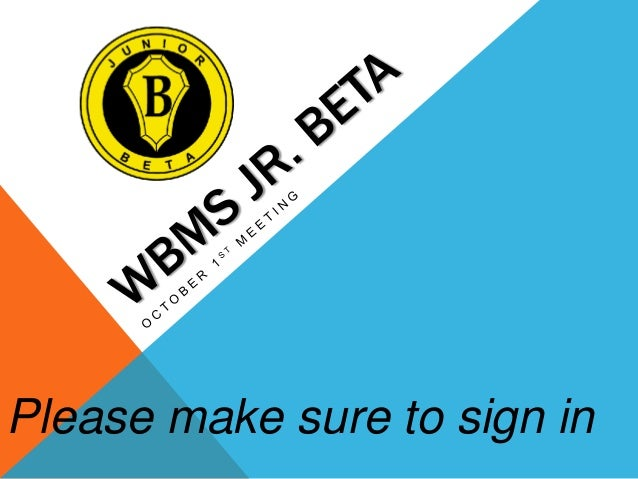 Please make sure to sign in