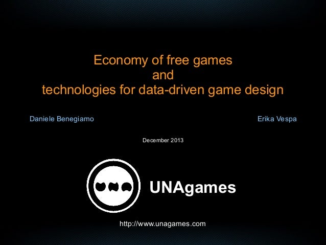 Economy of free games and technologies for data-driven game design