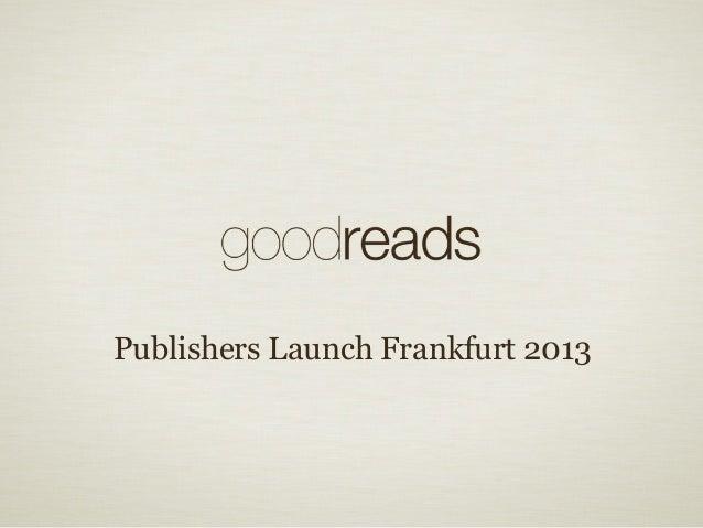 2013 publishers launch frankfurt