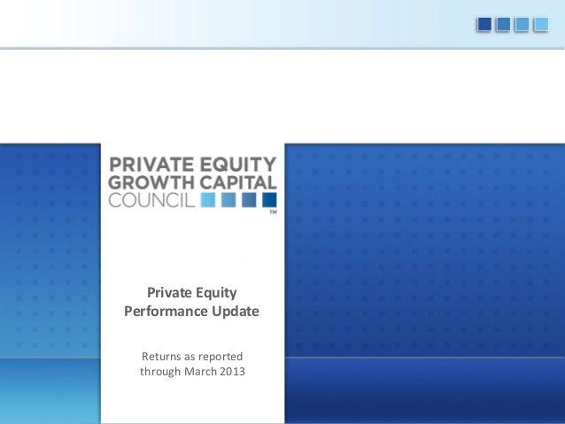 2013 Quarter 1 Performance Update