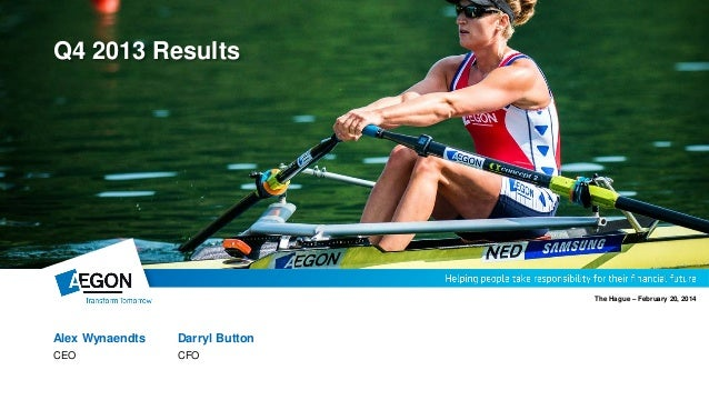 Alex Wynaendts Darryl Button CEO CFO The Hague – February 20, 2014 Q4 2013 Results