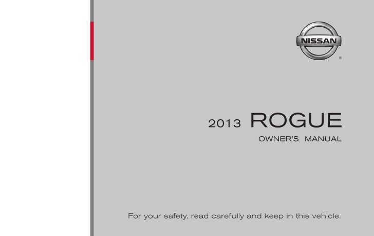 2013 ROGUE OWNER'S MANUAL