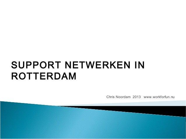 SUPPORT NETWERKEN INROTTERDAM              Chris Noordam 2013 www.workforfun.nu