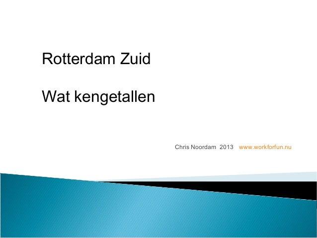 Chris Noordam 2013 www.workforfun.nu Rotterdam Zuid Wat kengetallen