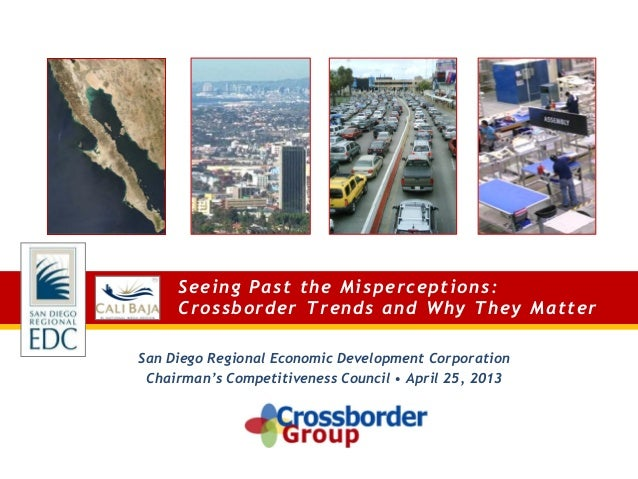 Seeing Past the Misperceptions: Crossborder Trends and Why They Matter San Diego Regional Economic Development Corporation...