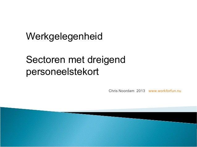 2013 sectoren-tekort-personeel